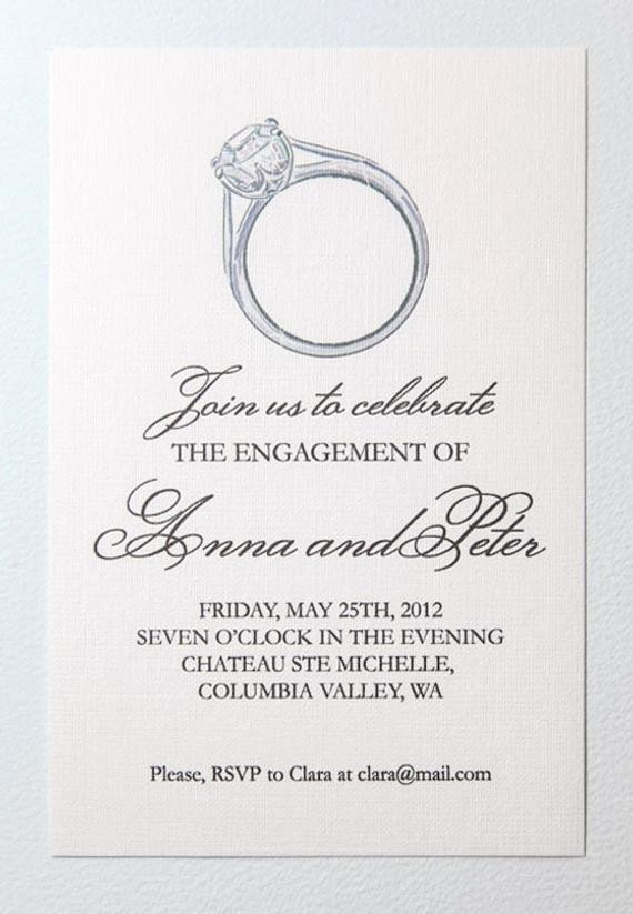 Engagement Party Invitations Templates Items Similar to Printable Engagement Party Invitation On Etsy