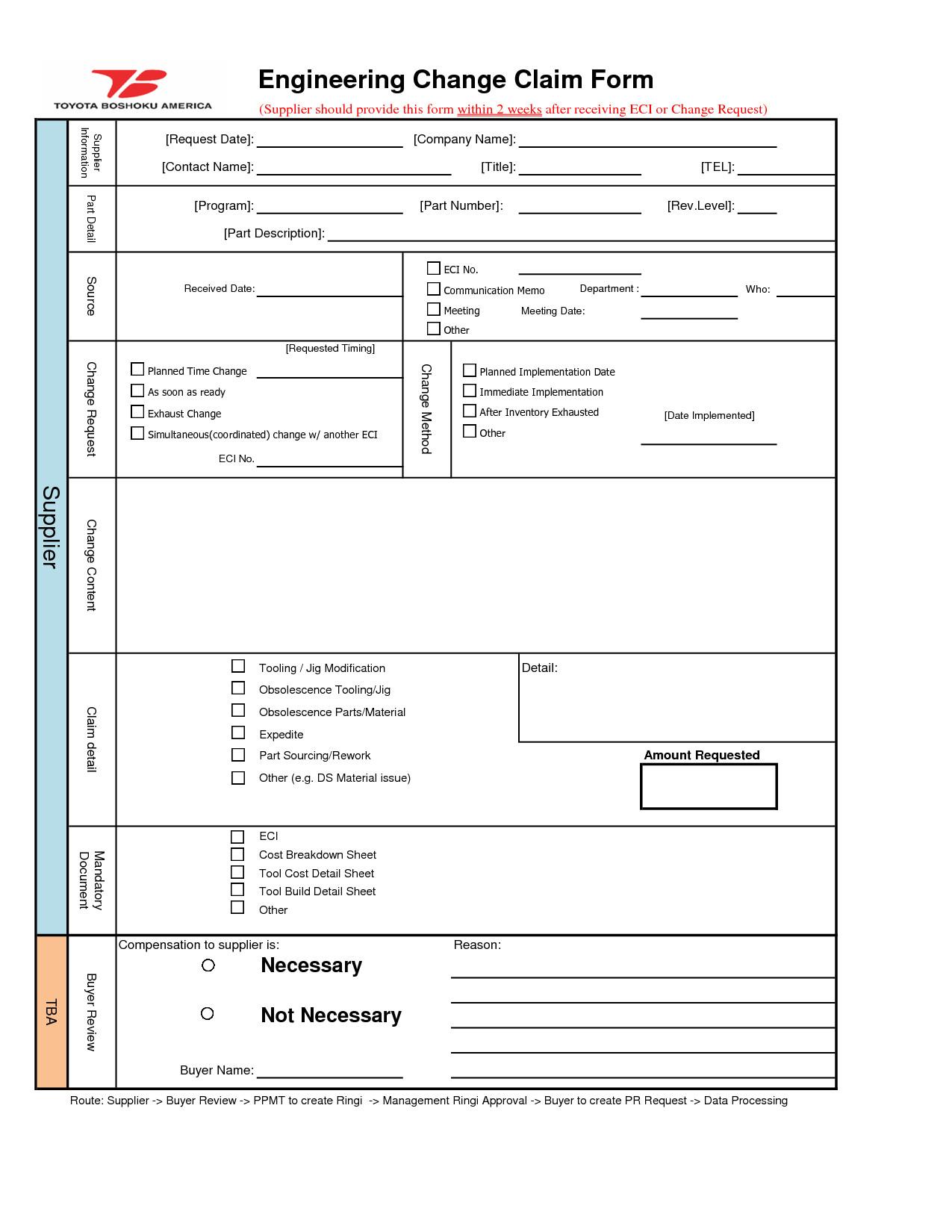 Engineering Change order Template Engineering Change order Template