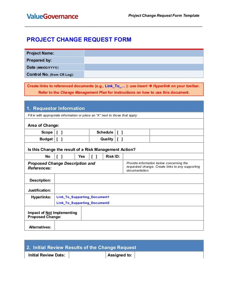 Engineering Change order Template Pm002 03 Change Request form Template