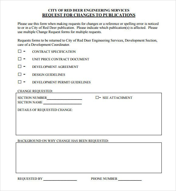 Engineering Change order Template Sample Change Request 7 Documents In Pdf Word