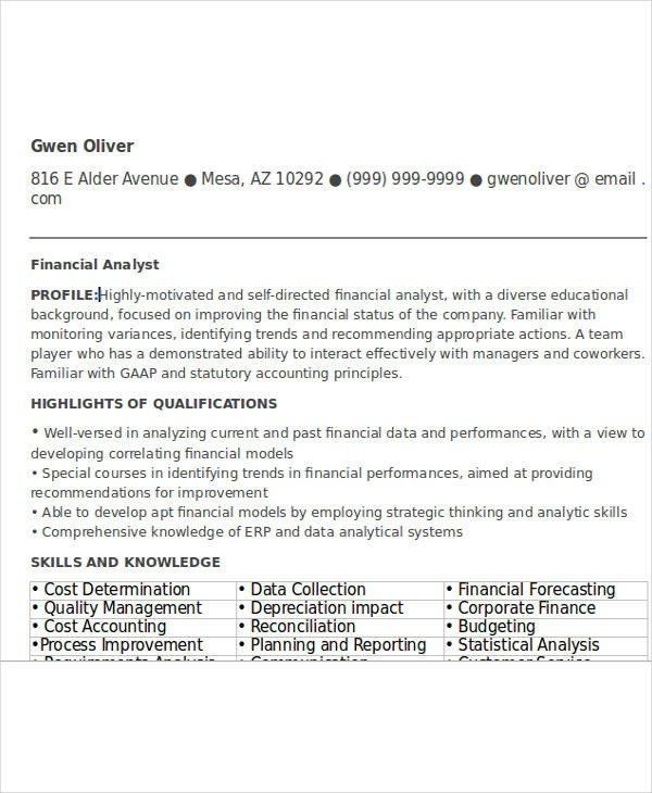 Entry Level Finance Resume 24 Free Finance Resume Templates Pdf Doc