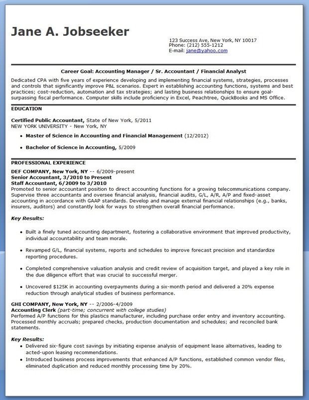 Entry Level Finance Resume Cpa Resume Sample Entry Level