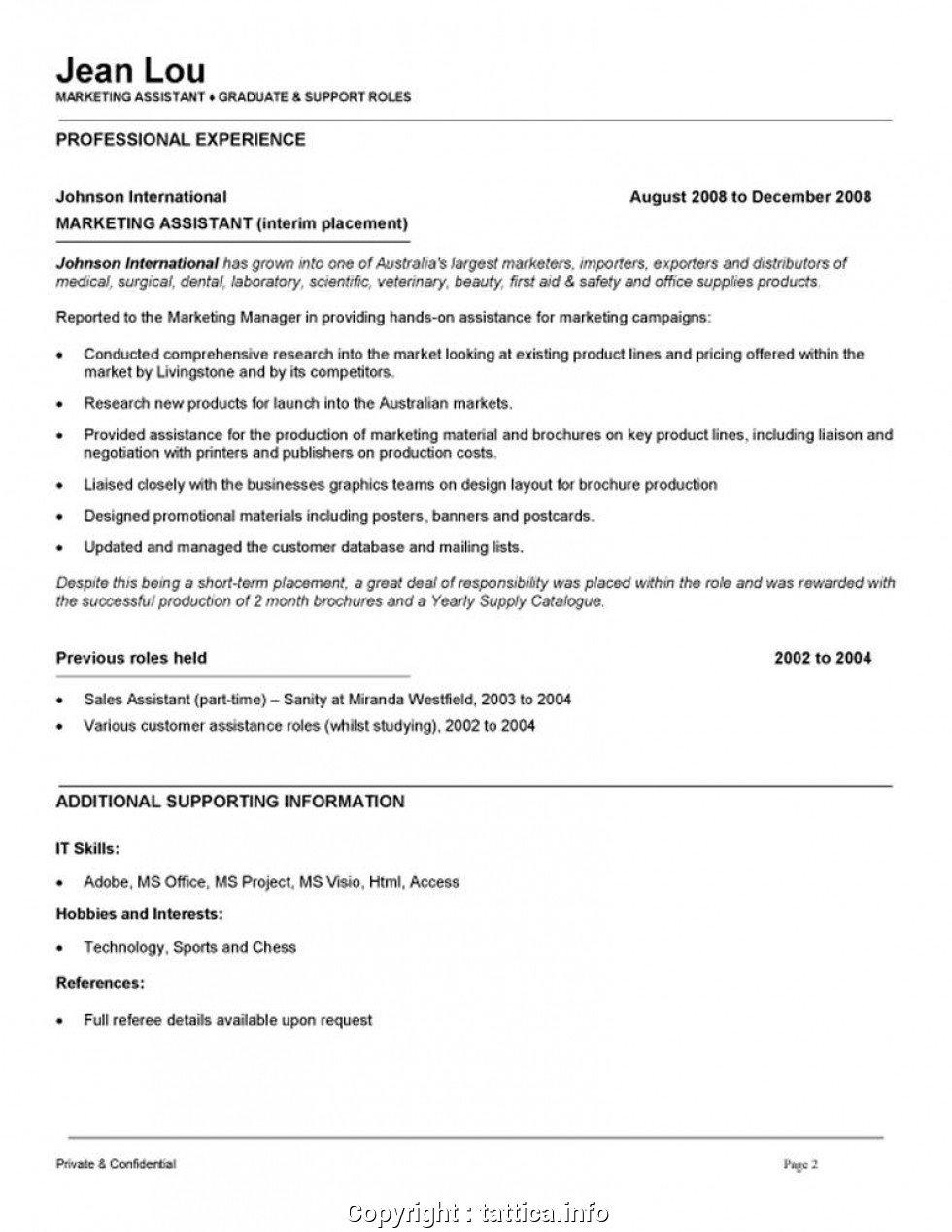 Entry Level Marketing Resume Entry Level Marketing Coordinator Resume