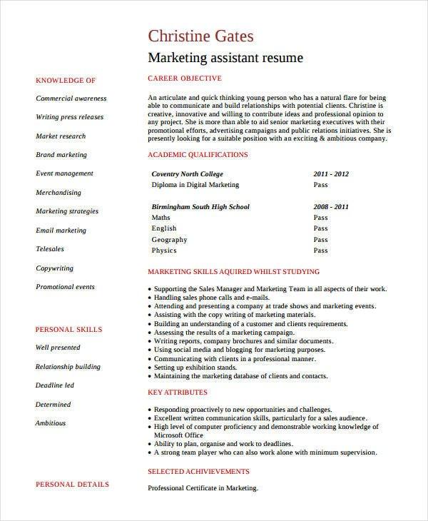 Entry Level Marketing Resume Modern Marketing Resumes 32 Free Word Pdf Documents