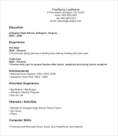 Entry Level Resume Template 9 Entry Level Resume Templates Pdf Doc