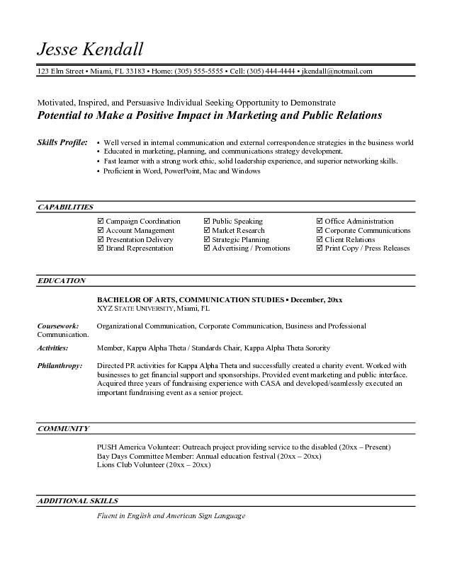 Entry Level Resume Template Entry Level Marketing Resume Objective