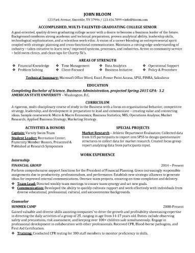 Entry Level Resume Template Entry Level Resume Examples
