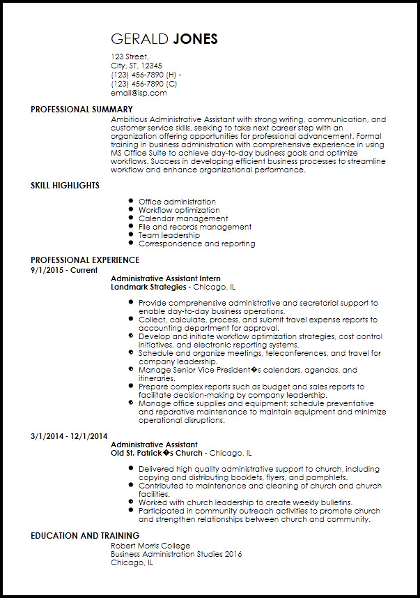 Entry Level Resume Template Free Entry Level Resume Templates