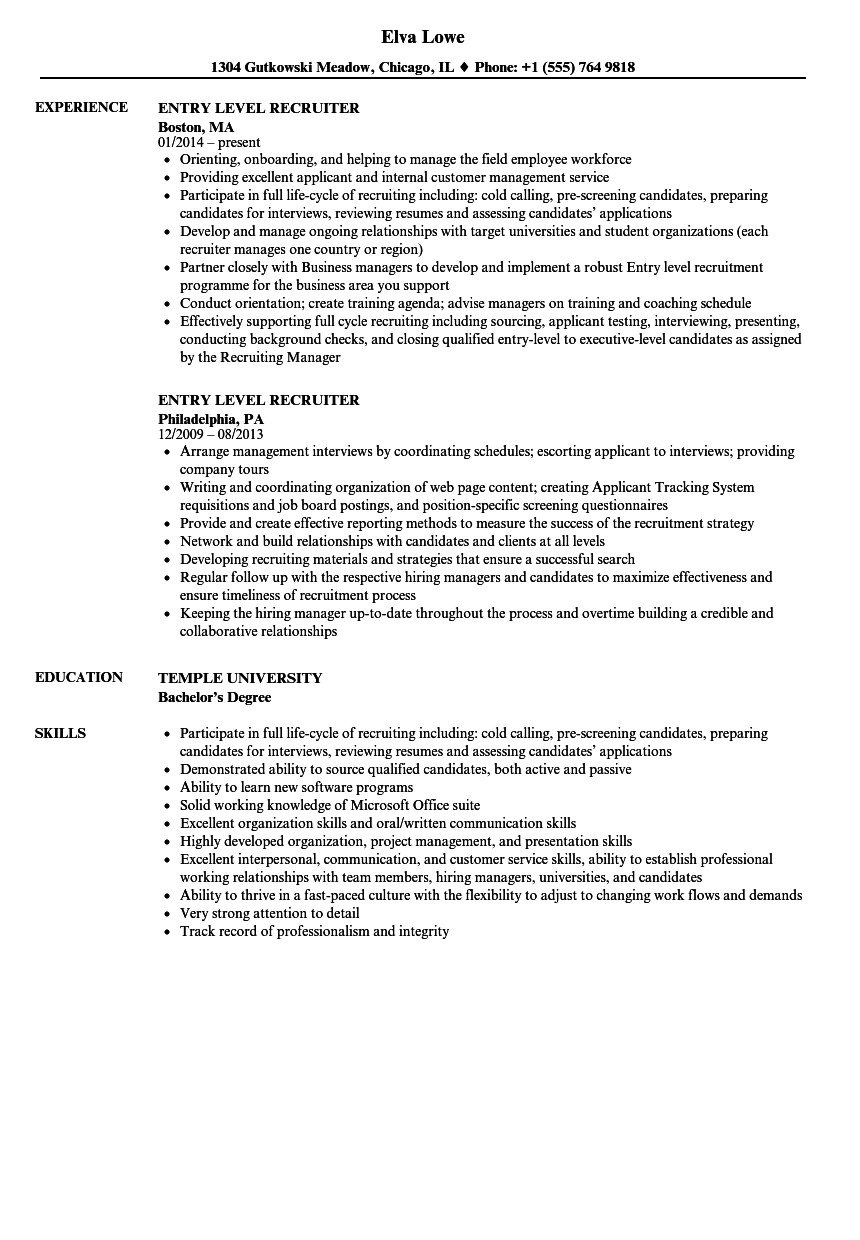 Entry Level Resume Template Nice Resume for Entry Level Job Entry Level