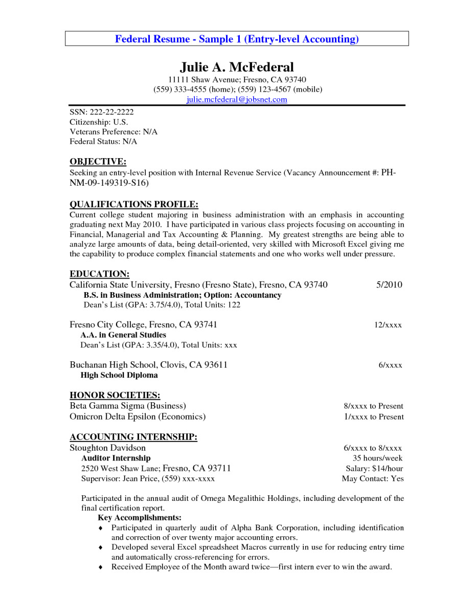 Entry Level Resume Templates 14 Entry Level Accounting Resume Objective