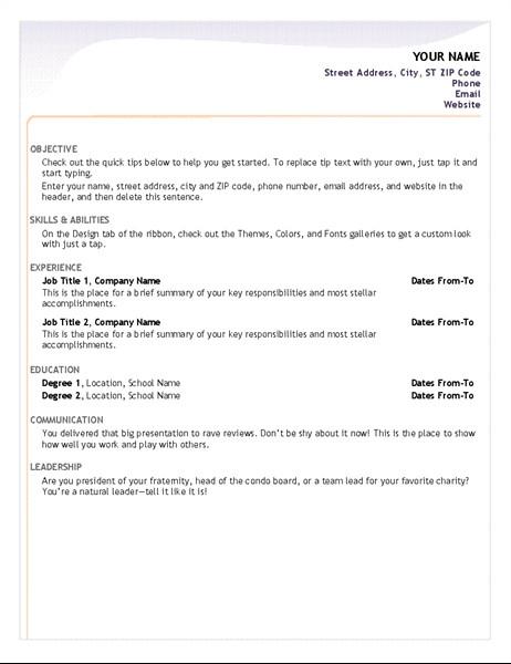Entry Level Resume Templates Entry Level Resume