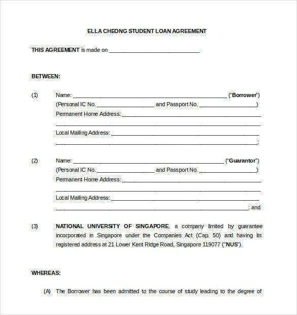 Equipment Loan Agreement Template 19 Loan Agreement Templates – Free Word Pdf format