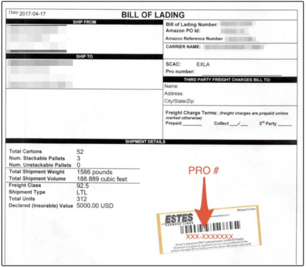 Estes Bill Of Lading Import From China to the Uk
