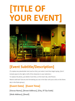 Event Flyer Template Word event Flyer Fice Templates