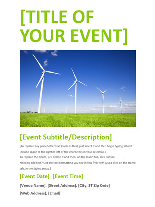 Event Flyer Template Word event Flyer Green Fice Templates