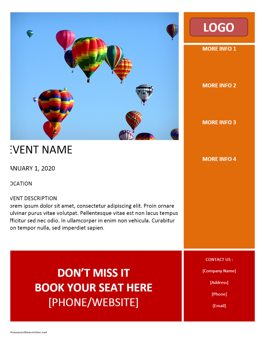 Event Flyer Template Word event Flyer Template