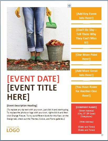 Event Flyer Template Word Generic Seasonal event Flyer Template