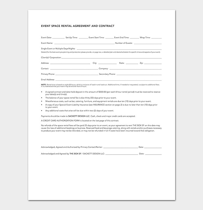 Event Planner Contract Template event Contract Template 19 Samples Examples In Word