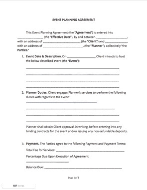 Event Planner Contract Template event Planning Contract Free Sample Docsketch