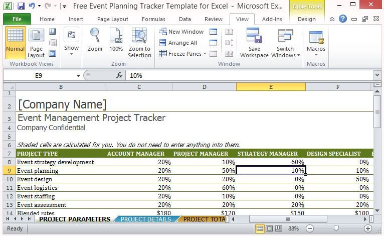Event Planning Checklist Template Excel Free event Planning Tracker Template for Excel