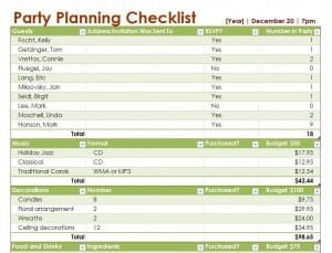 Event Planning Checklist Template Excel Party Planning Checklist Template Free Printables Word Excel