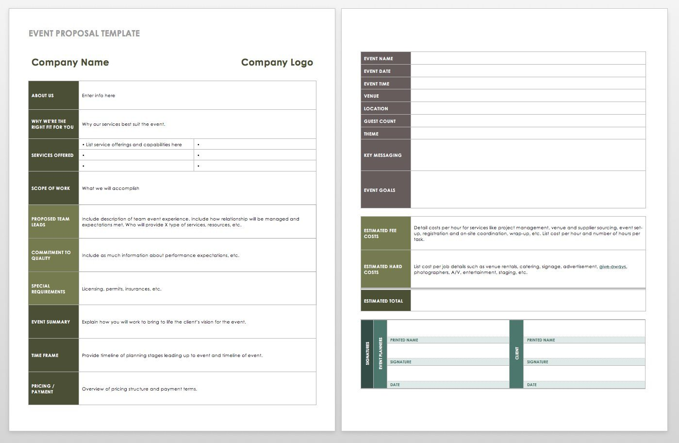 Event Planning Proposal Template 21 Free event Planning Templates