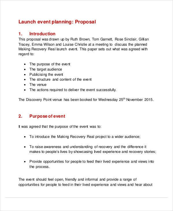 Event Planning Proposal Template 58 event Proposal Samples Word Pdf
