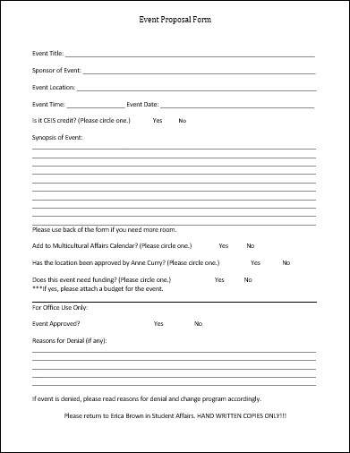 Event Planning Proposal Template event Proposal Template 12 Samples forms & formats