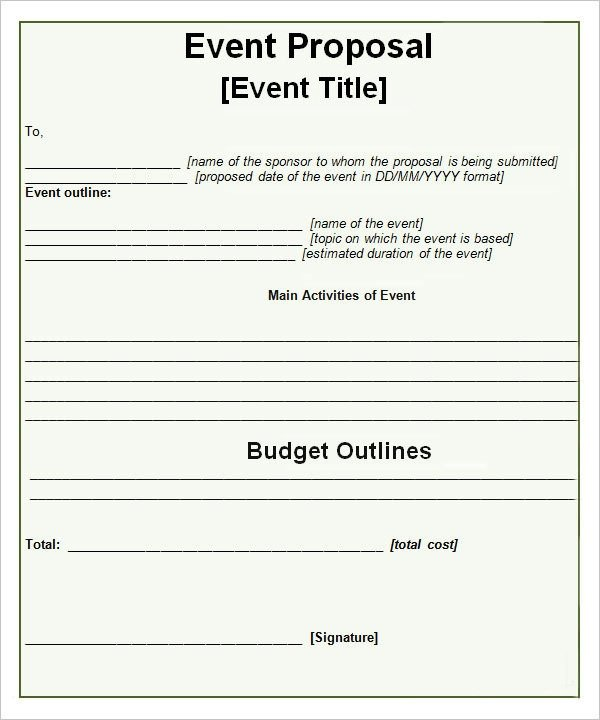 Event Planning Proposal Template Sample event Proposal Template 15 Free Documents In Pdf