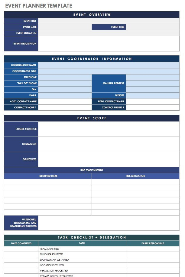 Event Planning Template Excel 21 Free event Planning Templates