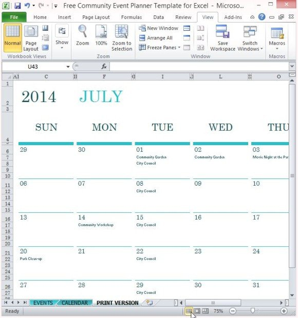 Event Planning Template Excel Free Munity event Planner Template for Excel