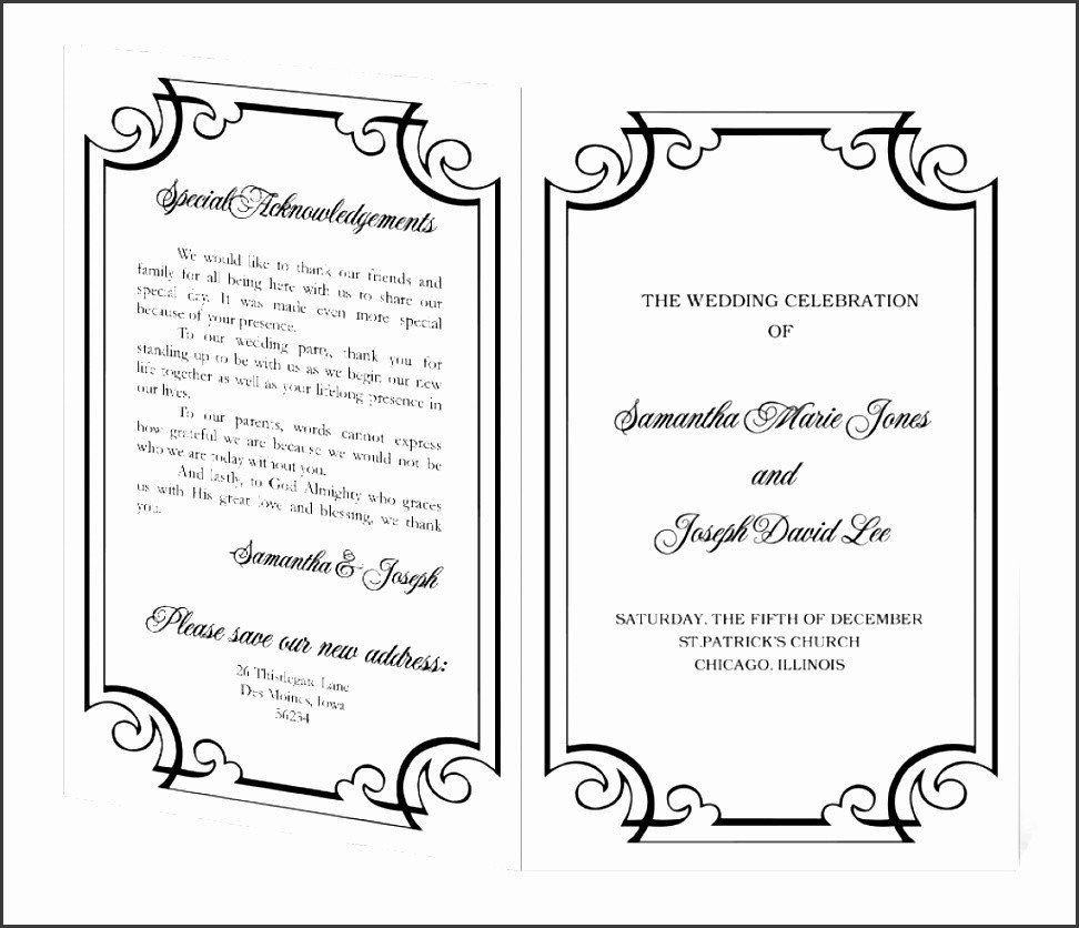 Event Program Template Word 10 Ms Word event Program Template Sampletemplatess