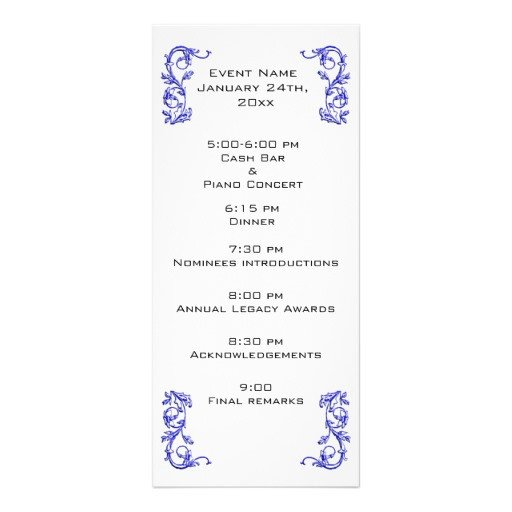 Event Program Template Word event Program Template
