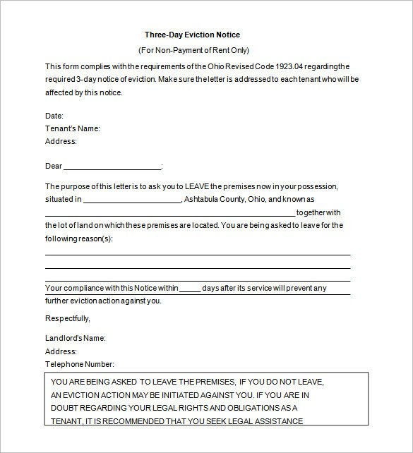 Eviction Notice Letter Template 38 Eviction Notice Templates Pdf Google Docs Ms Word