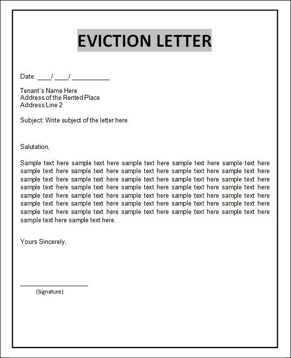 Eviction Notice Letter Template 43 Eviction Notice Templates Pdf Doc Apple Pages