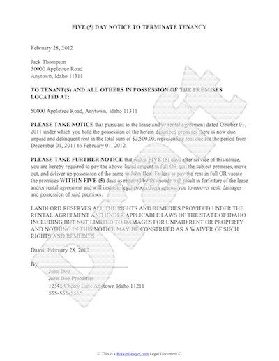 Eviction Notice Letter Template Sample Eviction Notice Free Notice Of Eviction Letter