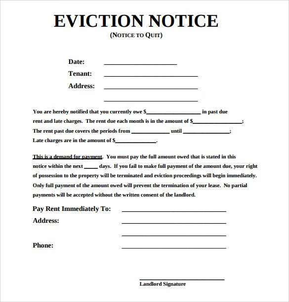 Eviction Notice Template Alabama 43 Eviction Notice Templates Pdf Doc Apple Pages