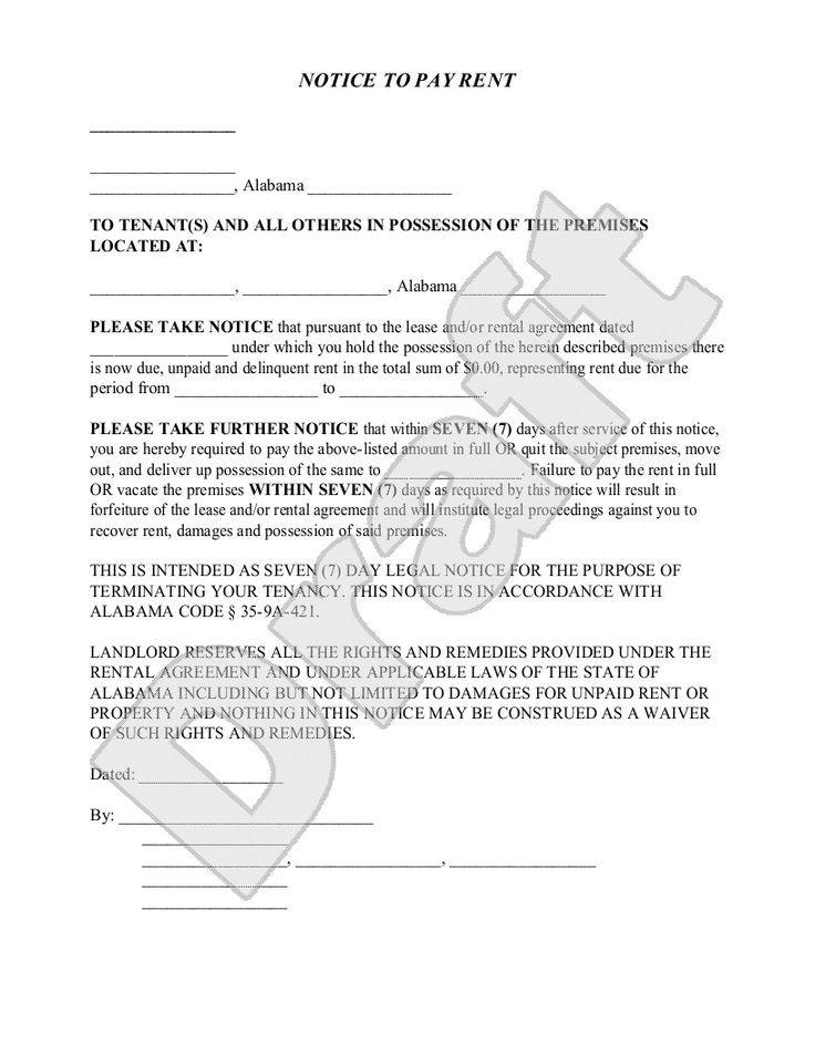 Eviction Notice Template Alabama Best 25 Eviction Notice Ideas On Pinterest