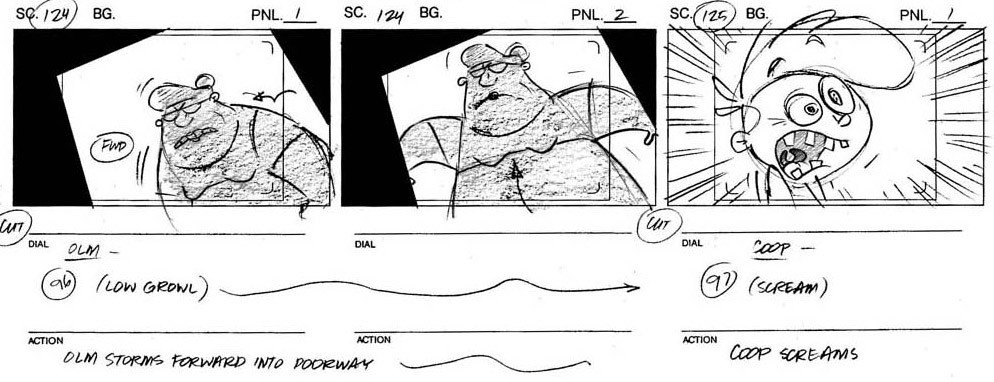 Example Of A Storyboard Drawing & Position for Visual Storytelling
