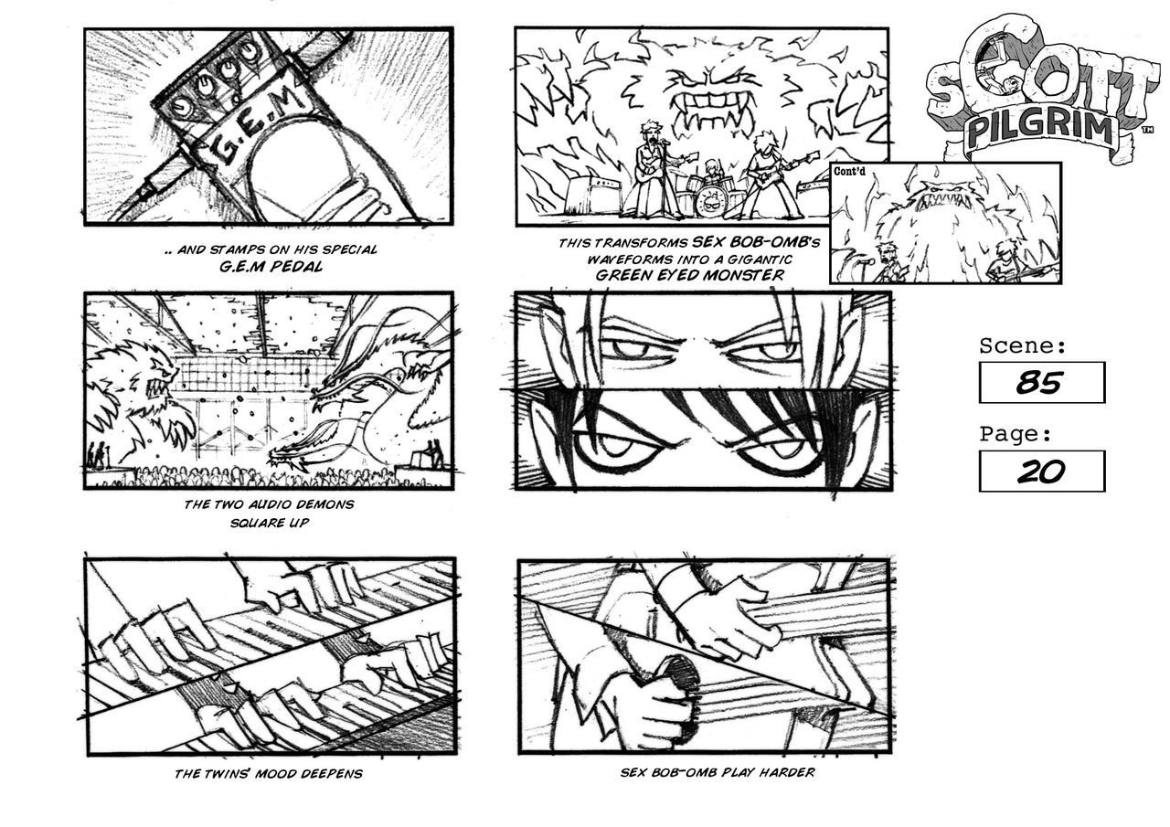 Example Of A Storyboard Scott Pilgrim Vs the World 2010 — Art Of the Title