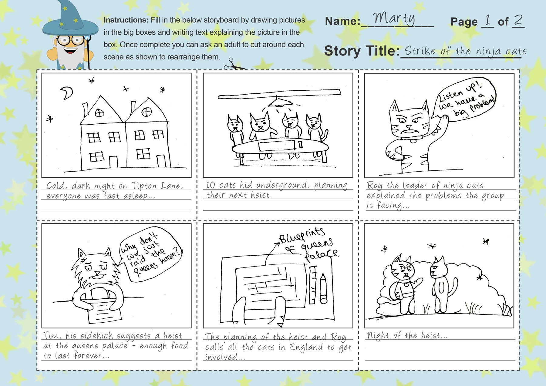 Example Of A Storyboard Storyboard Template for Kids Free Template