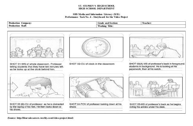 Example Of A Storyboard Video Project Storyboard Example