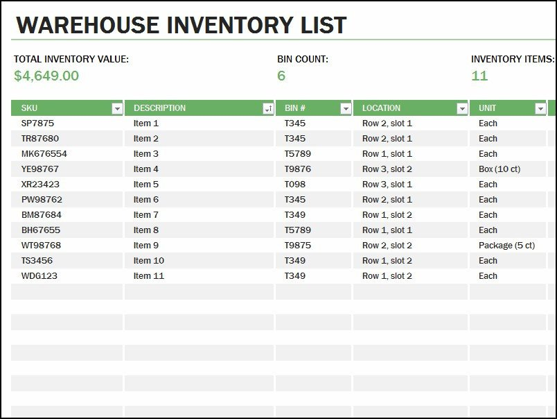 Example Of Inventory List 10 Inventory List Examples Pdf