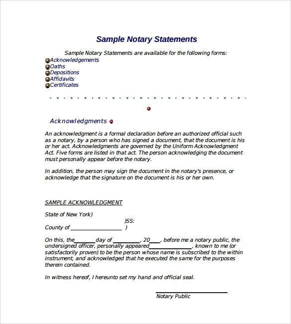 Example Of Notarized Letter 10 Sample Notarized Letters Pdf Word