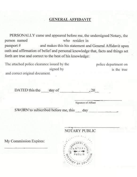 Example Of Notarized Letter How to Notarize A State City or County U S Police
