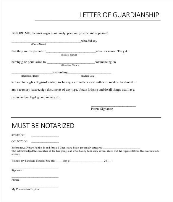 Example Of Notarized Letter Notarized Letter