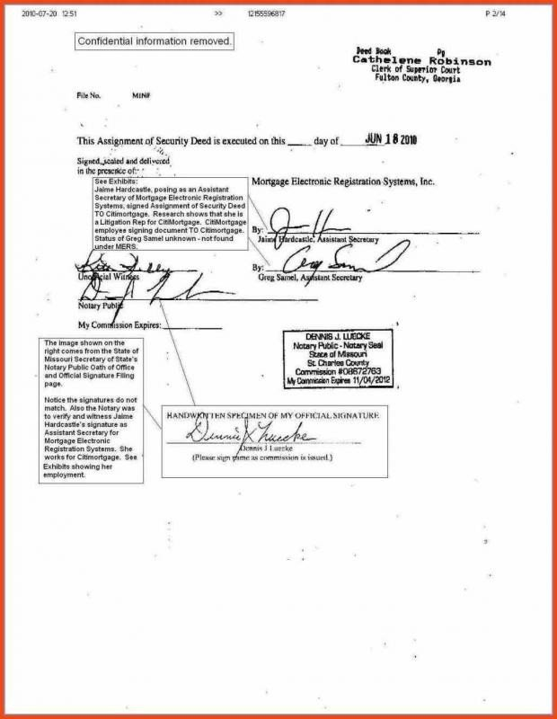 Example Of Notarized Letter Notary Document Sample