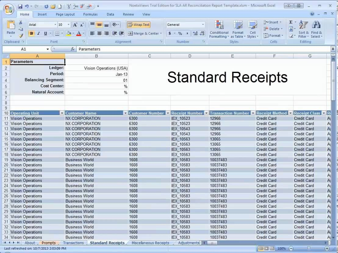 Excel Banking Spreadsheet Accounting Reconciliation Templates