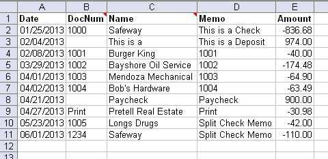 Excel Banking Spreadsheet Create Ofx Qbo Files From An Excel Spreadsheet with
