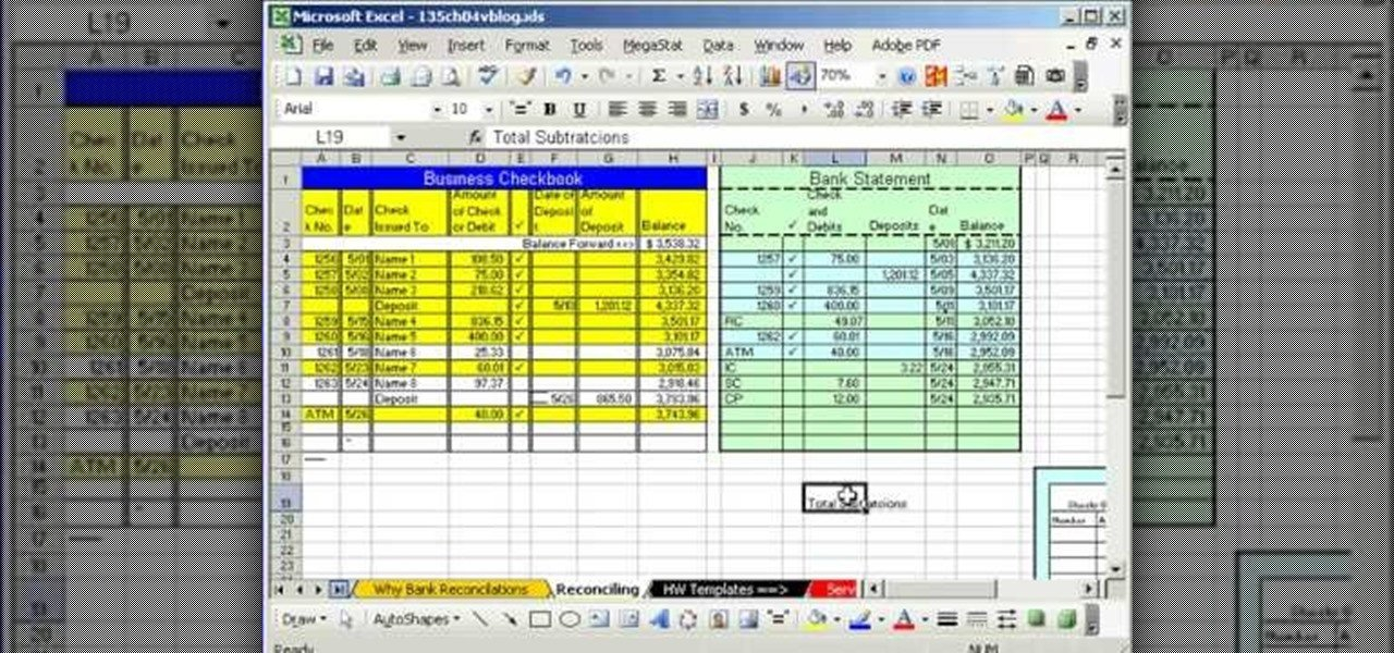 Excel Banking Spreadsheet How to Do Bank Reconciliation In Microsoft Excel